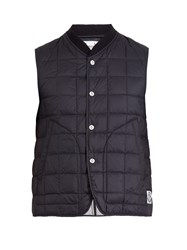 Moncler Gamme Bleu Square Quilted Down Gilet Black
