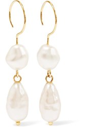 Beaufille Baroque Gold Plated Faux Pearl Earrings One Size