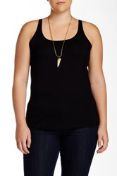 14Th And Union Scoop Neck Tank Plus Size Black