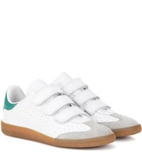 Isabel Marant Etoile Beth Leather And Suede Sneakers White