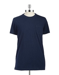 Brooks Brothers Red Fleece Cotton Tee Navy