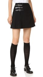 Mcq By Alexander Mcqueen Buckle Pleated Skirt Black