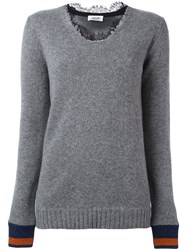 Aviu Lace Collar Jumper Grey