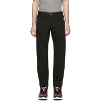 Balmain Black Monogram Chino Trousers