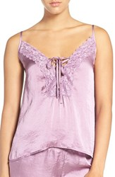 Band Of Gypsies Women's Lace Neck Satin Camisole