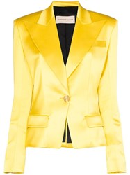 Alexandre Vauthier Single Breasted Blazer Yellow