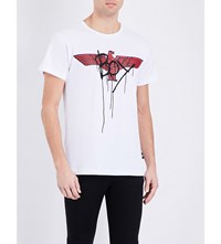 Boy London Eagle Print Cotton Jersey T Shirt White Red