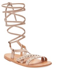 Charles By Charles David Steeler Flat Lace Up Sandals Women's Shoes Nude