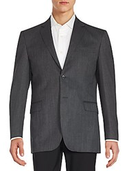 Yves Saint Laurent Regular Fit Wool Sportcoat Charcoal