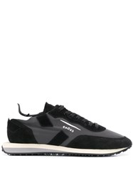 Ghoud Panelled Lace Up Sneakers Black