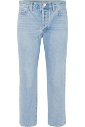 Gold Sign Goldsign The Low Slung Cropped Mid Rise Straight Leg Jeans Light Denim