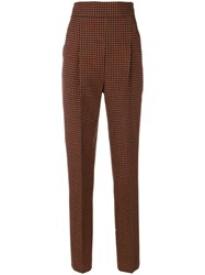 Philosophy Di Lorenzo Serafini Tapered Tweed Trousers Cotton Viscose Virgin Wool Yellow Orange