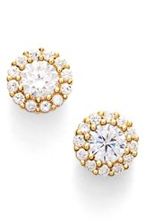 Women's Nordstrom Precious Metal Plated 0.50Ct Tw Cubic Zirconia Stud Earrings Gold