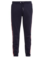 Moncler Relaxed Leg Cotton Blend Track Pants Navy