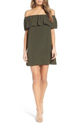 French Connection Women's Polly Plains Dress Woodland Green