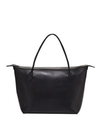 The Row Lux Leather Satchel Bag Black Pattern