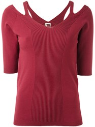 I'm Isola Marras Cut Out Detail Knitted Blouse Red