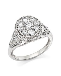 Bloomingdale's Certified Diamond Cluster Statement Ring In 14K White Gold 1.25 Ct. T.W.