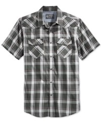 American Rag Koffler Plaid Shirt Cloudy Grey