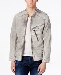 Gstar Men's Raw Denim Moto Jacket Light Aged