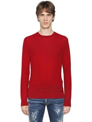 Dsquared Wool Sweater W Logo Detail