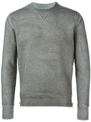 Diesel Black Gold Raglan Sleeve Sweatshirt Grey