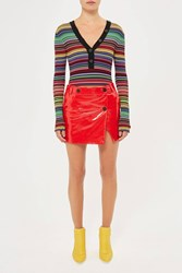 Topshop Heaton Patent Leather Mini Skirt By Unique Red