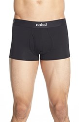 Men's Naked 'Essential' Stretch Cotton Trunks Black