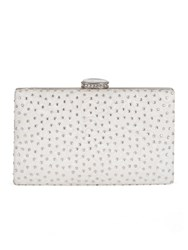 Chesca Floral Lace And Diamante Clutch Bag Cream