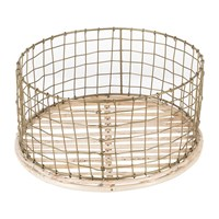 Amara Shallow Gold Wire Basket
