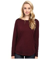Jag Jeans Meghan Tee Classic Fit Shirt Burnout Jersey Berry Women's T Shirt Burgundy