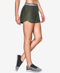 Under Armour Play Up Shorts Downtown Green Foliage Green