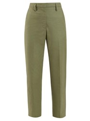 Golden Goose Deluxe Brand Mid Rise Tailored Trousers Khaki