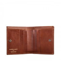 Maxwell Scott Bags Tan Leather Wallet For Men With Coin Section
