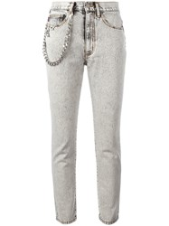 Marc Jacobs Flood Stovepipe Jeans Grey