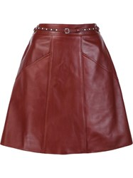 Coach A Line 'Biker' Skirt Brown