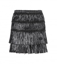 Isabel Marant Copal Fringe Embellished Mini Skirt Black