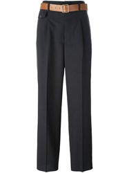 Golden Goose Deluxe Brand Belted Trousers Grey