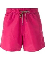 Paul Smith Drawstring Swim Shorts Pink And Purple