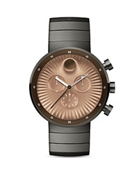 Movado Edge Chronograph 42Mm Copper Gray