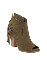 Marc Fisher Onita Suede Booties Olive