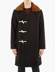 Our Legacy Black Double Breasted Duffle Coat