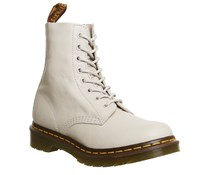 Dr. Martens 8 Eyelet Lace Up Boots Ivory