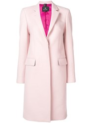 Paul Smith Ps By Single Breasted Coat Pink
