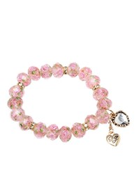 Betsey Johnson Pink Stretch Bracelet Rose Quartz