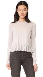 Elizabeth And James Kent Ruffle Sweater Pale Dove