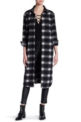 Bb Dakota Oversized Long Sleeve Flannel Shirt Black