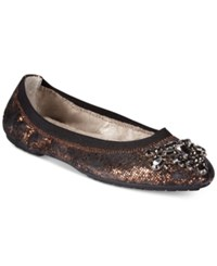 White Mountain Carella Embellished Flats Women's Shoes Black