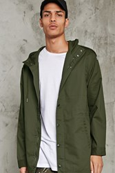 Forever 21 Hooded Cotton Drawstring Jacket