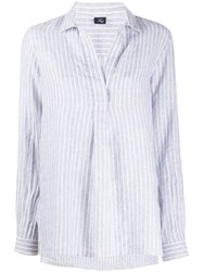 Fay Pinstriped Point Collar Blouse 60